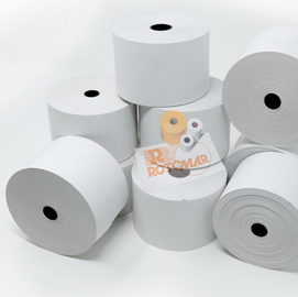 Rotolo distributori self service -  57mm x 130mt - diametro esterno 100mm - 55gr -  carta termica bpa free